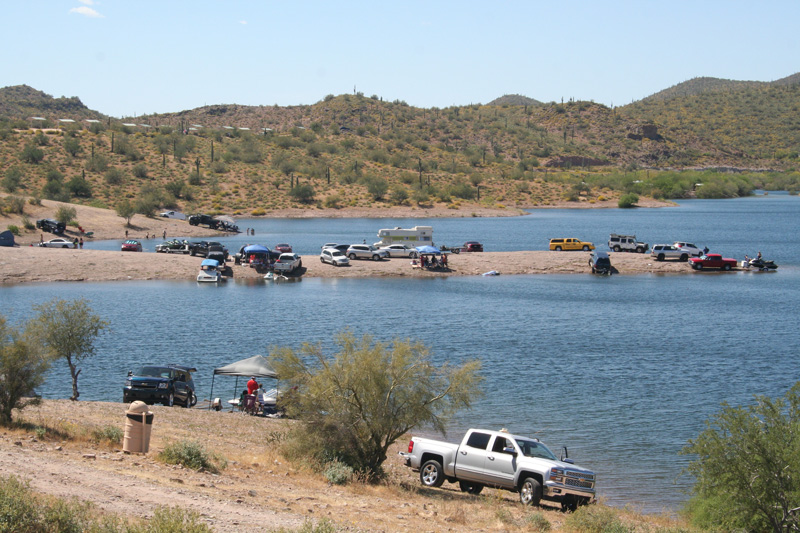 Az Camp Guide Lake Pleasant Shoreline Camping